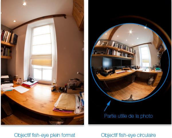 Photos prises avec un objectif fish eye circulaire et full frame