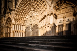 Portail central de la cathédrale de Bourges - 17 TSE Canon avec bascule